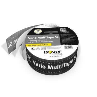 Isover Vario Multitape SL 25 m x 60 mm Klebeband mit geteiltem Abdeckstreifen für Dampfsperrfolien