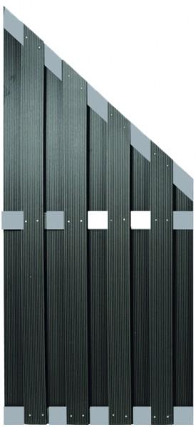 KANTON-Serie ECKE ALU/Anthrazit 90 x 180/90 cm, WPC-Bretterzaun