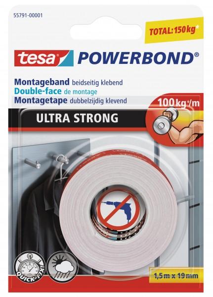 tesa® Powerbond Ultra Strong, 1,5 m : 19 mm