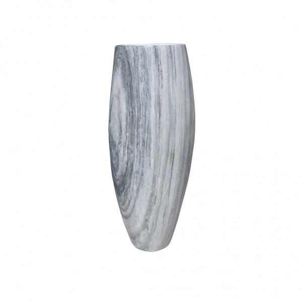 Vase white/grey, gebohrt