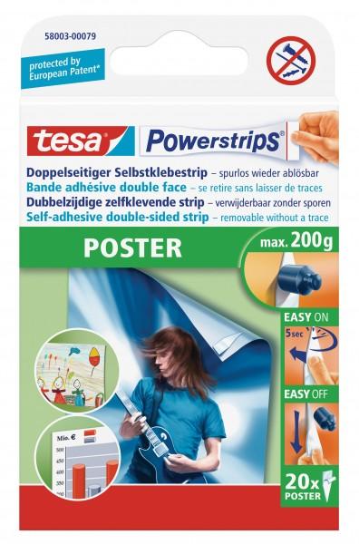 tesa Powerstrips® Poster, 20 Stück