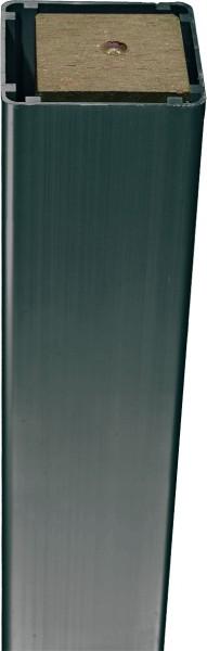 DALIAN-/ JINAN Serie Pfosten ANTHRAZIT, Alu mit Verstärkung 7 x 7 x 150 cm