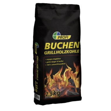 PROFI Buchen-Grillholzkohle, 2,5 kg