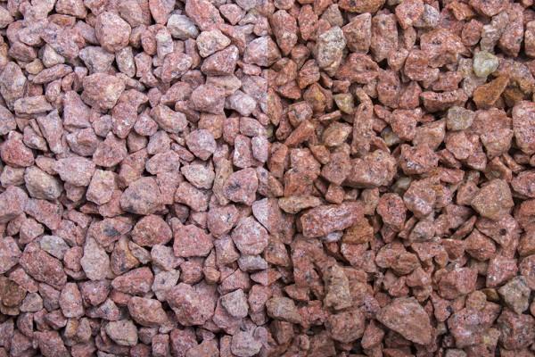 Splitt Rosa Edelporphyr 8-12 mm, 20 kg Sack