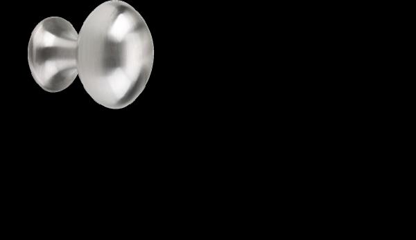 Möbelknopf Ø 18 mm, Edelstahllook