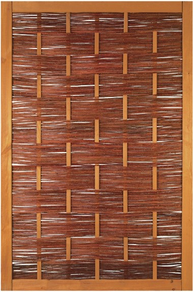 ÄTNA Weidengeflechtzaun 120 x 180 cm braun gebeizte Weide