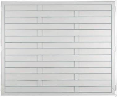 LIGHTLINE KS-LAMELLENZAUN 180 x 150 cm Füllung / Rahmen WEISS