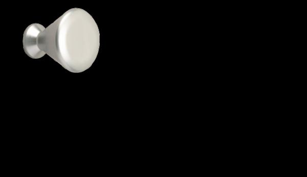 Möbelknopf Ø 21 mm, aluminiumfarbig