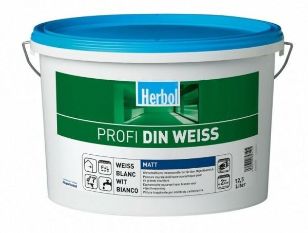 Herbol Profi DIN Weiss Innenwandfarbe 12.5 Liter