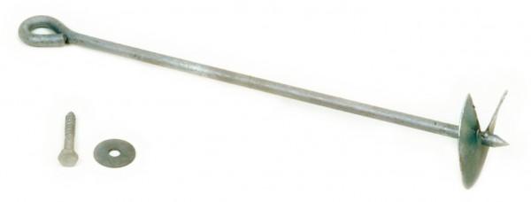 TOM Erdanker mit Scheibe und Schraube lose Ankerlänge 60 cm, feuerverzinkt