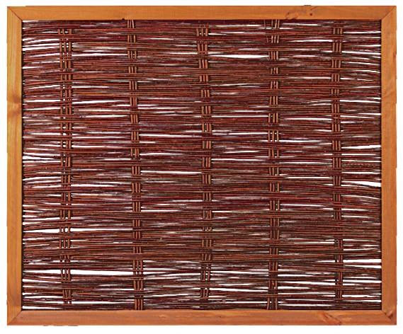 FAKO Weidengeflechtzaun mit umlauf. Rahmen 120 x 100 cm