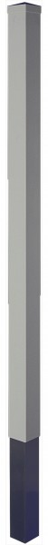 LIGHTLINE KS Pfosten SILBERGRAU 9 x 9 x 240 cm zum einbetonieren inkl. Pfostenkappe (extra packen)