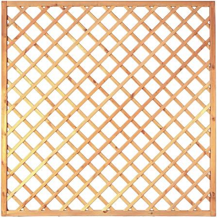 Diagonal-Rankzaun grün 10 x 10 cm 180 x 180 cm Rahmen 45/45 mm