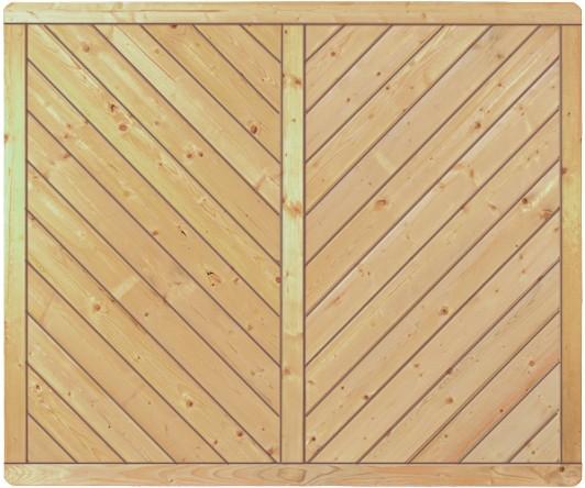 CLASSIC-Serie-Diagonal 180 x 150 cm Rahmen 40/70 mm, Profilbretter 16/118 mm