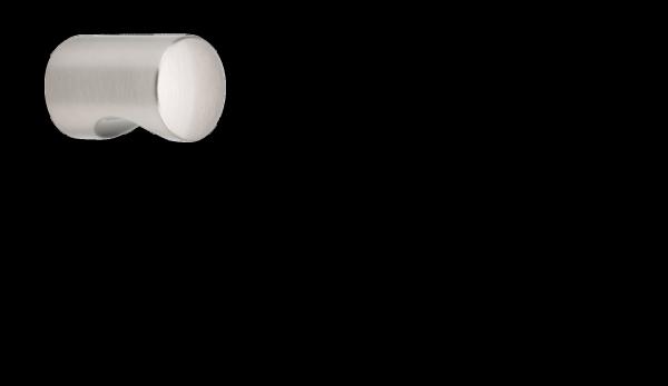 Möbelknopf Ø 18 mm, aluminiumfarbig