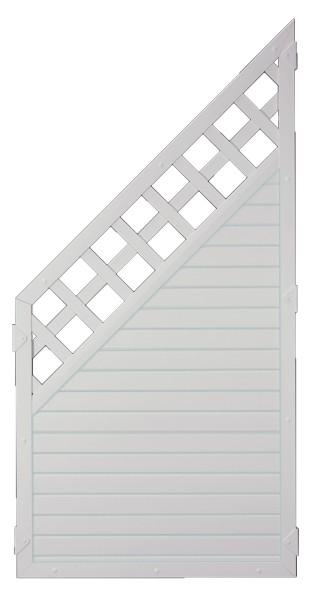 LIGHTLINE KS-Zaun Ranki ECKE 90 x 180/90 cm Füllung weiß / Rahmen weiß