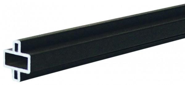 GOTLAND-Serie WPC-Steckzaunsystem Design-Zwischenleiste, 20 x 10 x 1795 mm, Aluminium ANTHRAZIT