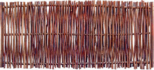PEDRO Haselnusszaun 180 x 80 cm seitlich verstärkt