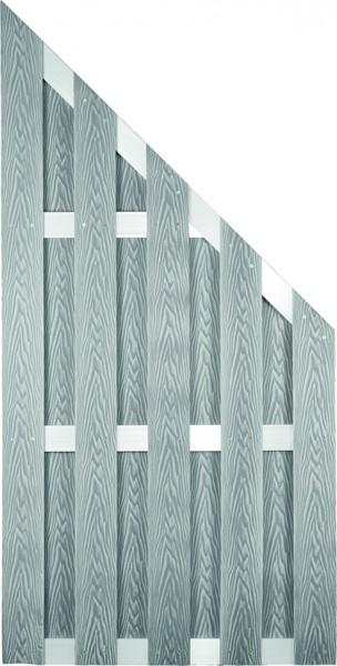 DALIAN-Serie ECKE ALU/Grau gebürstet 90 x 180/90 cm, WPC-Bretterzaun