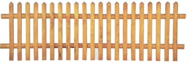 Senkrechtzaun braun 250 x 80 cm Latten 55 mm