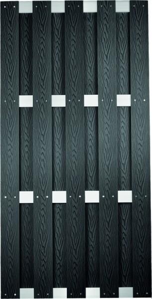 DALIAN-Serie ALU/Anthrazit gebürstet 90 x 180 cm, WPC-Bretterzaun