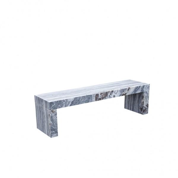 Sitzbank Marmor white/grey