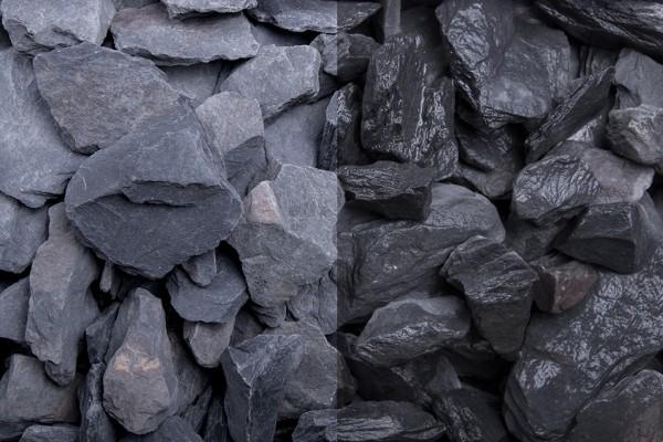 Canadian Slate schwarz 30-60 mm, 20 kg Sack
