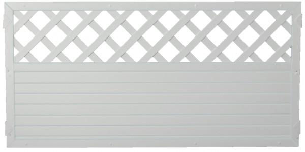LIGHTLINE KS-Zaun Ranki 180 x 90 cm Füllung weiß / Rahmen weiß