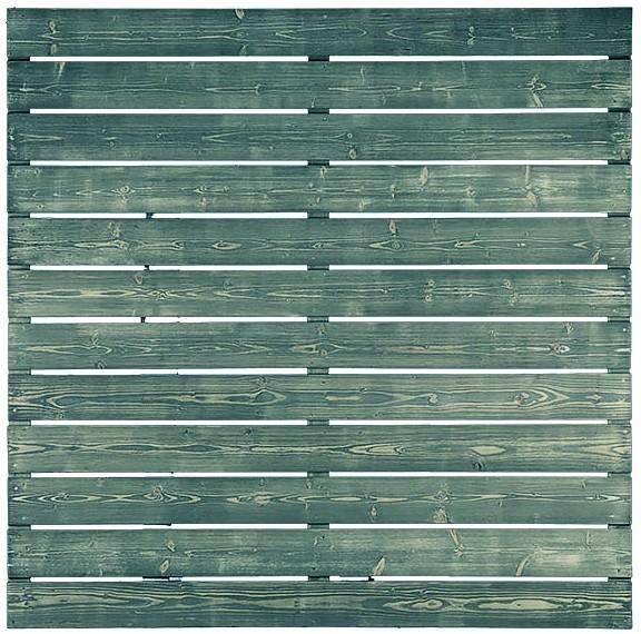 KASIA-Serie grau lasiert, 180 x 180 cm Riegel 16/65 mm, Latten 16/140 mm