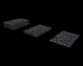 Isopat, Terracon, Karle und Rubner, Gummiunterlage, 3x60x90xmm, 60 Stück