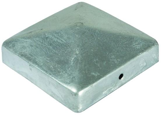 Pfostenabdeckung aus Metall, 9 x 9 cm Pyramide Feuerverzinkt