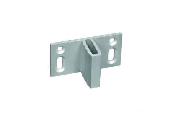 Zaunhalter für WPC-Zäune für verdeckte Befestigung Set á 8 Stück, ALU-anodisiert
