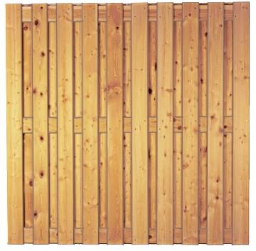 NEWA-Serie sib. Lärche, 180 x 180 cm ohne Rahmen, Lamellen 14/120 mm