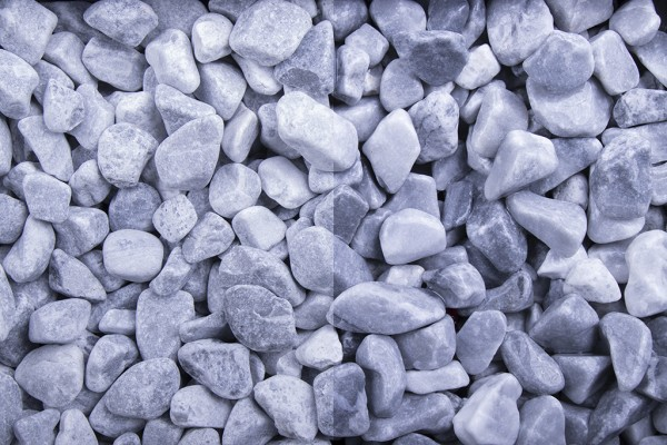 Kristall Blau getrommelt 25-40 mm