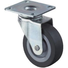Parkettlenkrolle 30x14 mm Kunststoff-Rad grau