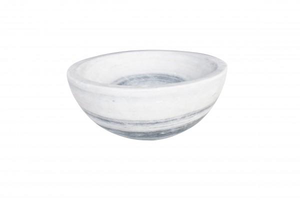 "Fruit bowl ""Obstschale"" 30 cm, white/grey marble"