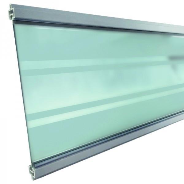 GOTLAND-Serie WPC-Steckzaunsystem Glasfüllung 6 x 206 x 1793 mm SILBER