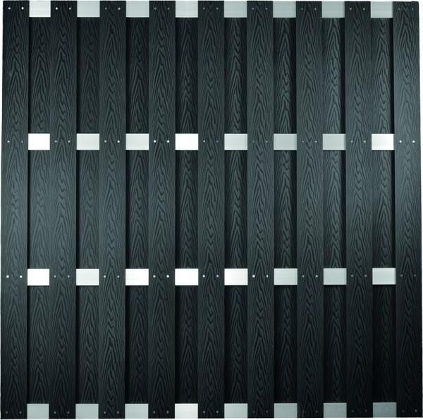 DALIAN-Serie ALU/Anthrazit gebürstet 180 x 180 cm, WPC-Bretterzaun