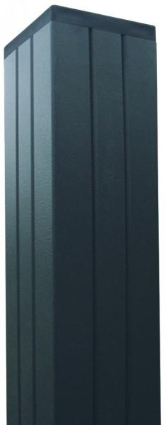 Aluminium TOR-Pfosten f. Steckzaunserien ANTHRAZIT, 68 x 68 x 2720 mm, verstärkt GOTLAND/TJÖRN/SKÄR/