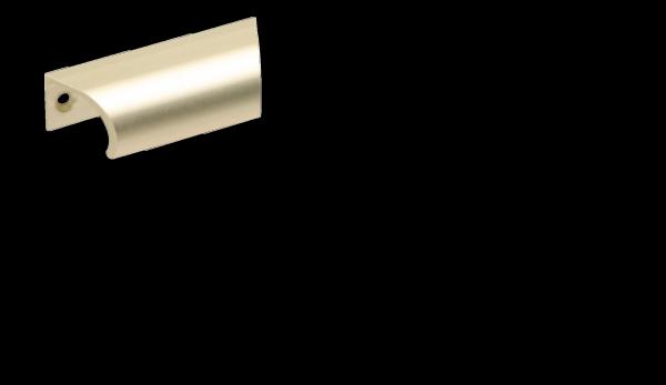 Hebetürgriff 57 mm, Neusilber