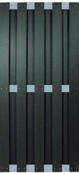 KANTON-Serie ALU/Anthrazit 90 x 180 cm, WPC-Bretterzaun