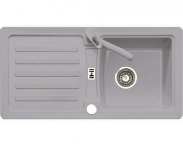 Eurodomo Einbauspüle Eurostone PRIMA 45 Granit grau, mit Excenter-Verschluss