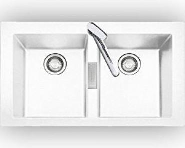 Eurodomo Einbauspüle Sonera 80 S, Granit weiß