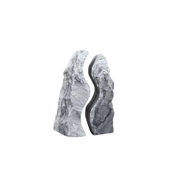 Twin Rocks grau, ungebohrt, 130 cm,ungebohrt
