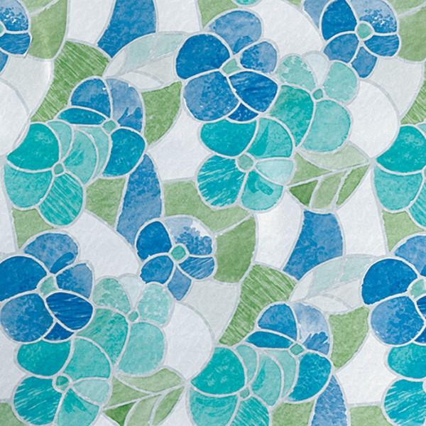 Glasdekorfolie 200 x 45 cm, Blau/Grün, Lisboa, Selbstklebend