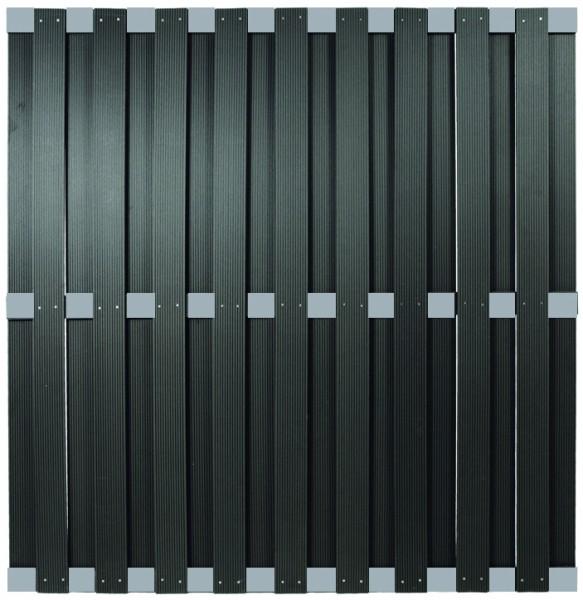 KANTON-Serie ALU/Anthrazit 180 x 180 cm, WPC-Bretterzaun