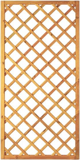 Diagonal-Rankzaun grün 10 x 10 cm 90 x 180 cm Rahmen 45/45 mm