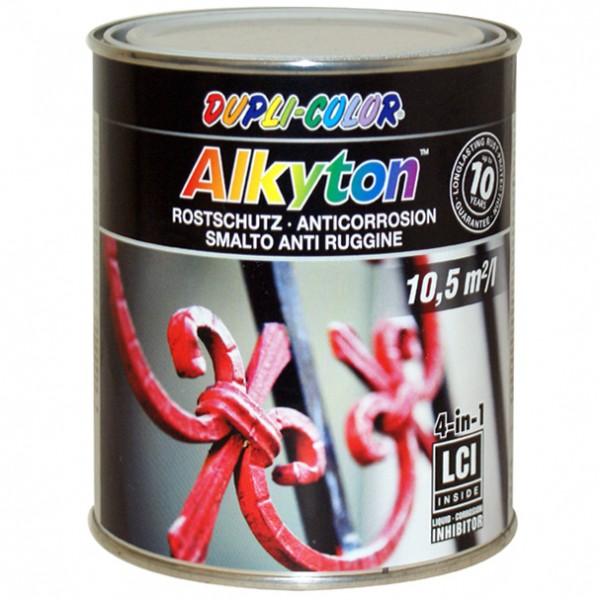Alkyton Rostschutzlack RAL 9005 tiefschwarz seidenmatt 750 ml