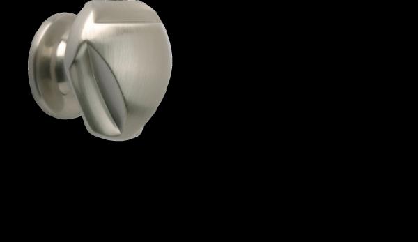 Möbelknopf 30mm Edelstahllook