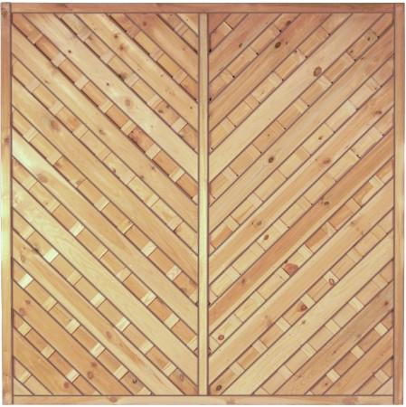 Maxi-Diagonal-Serie 1 grün 180 x 180 cm Rahmen 45/45 mm, Lamellen ger. & eschr.